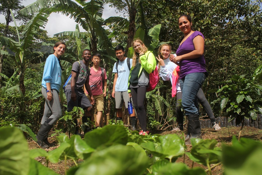 Students planting trees in Nicaragua